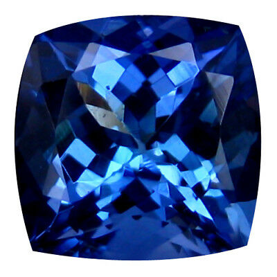 1.59Ct MIND BOGGLING ! TOP RICH FIRE AAA+ BLUISH VIOLET NATURAL TANZANITE