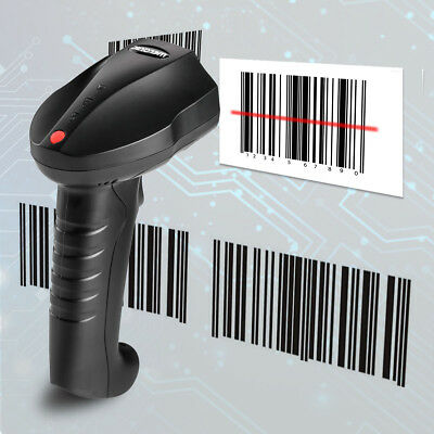 Welquic 2,4 GHz Wireless & Wired Haltegriff Laser Barcode Scanner Reader