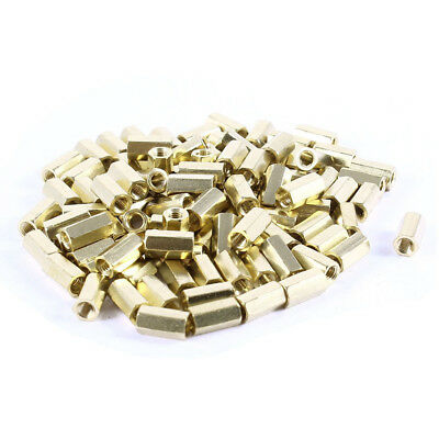 100 Pack Female Screw with Brass Nut Spacer Bolts M3 x 9 E4H4