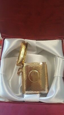 Lovely RARE English ANTIQUE 1904 Solid Yellow GOLD 9ct SUPERB Vesta Match Case