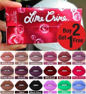 Lime Crime LONG STAY LIQUID MATTE LIPSTICK - in box Please Choose from 38 Shades
