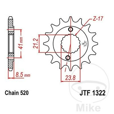 JT Front Sprocket 14T 520 Pitch JTF1322.14 Honda XR 400 R 1996
