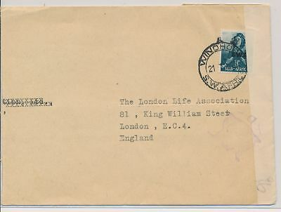 LI59781 South West Africa WW2 censored mail fine cover used