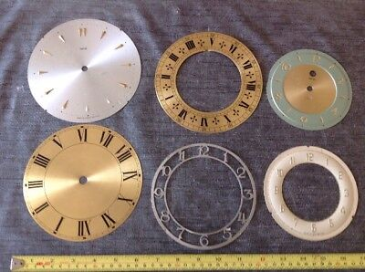 Antique Clock Dials Faces Collection Spare Parts Ex Clockmaker