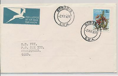 LI59864 South West Africa 1974 airmail fine cover used