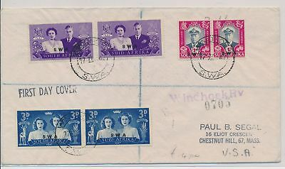 LI59872 South West Africa 1947 royal visit first day cover used