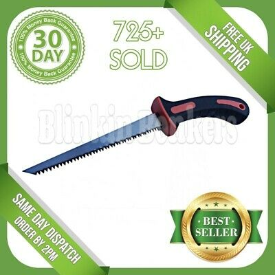 Soft Grip Jab Saw Jabsaw Plaster Board Dry Wall Hand Padsaw Wood Plastic Pruning