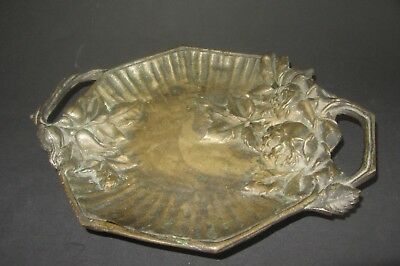 vide poche plateau ancien en bronze signé r jacouty french bronze plaque