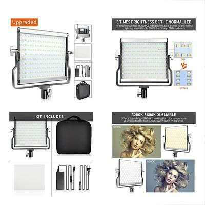 L4500 Dimmable Bi-color LED Video Light Kit With LCD Display, U Bracket Upgraded