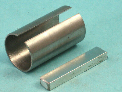 """24mm ID X 1"""" OD X 50mm Long Shaft Adapter with 8mm Square Key"""