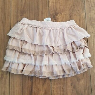 CREWCUTS J.CREW Ruffle Tiered Skirt Blush Pink  GIRLS SZ 2 Jersey Knit Silk
