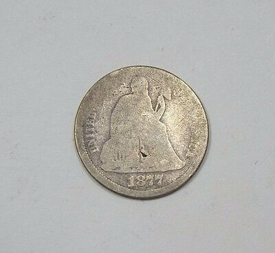 1877-CC Liberty Seated Dime AG Carson City SILVER 10-Cents
