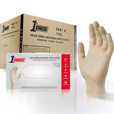 1st Choice Ivory Latex Industrial Powder Free Disposable Gloves (Case of 1000)