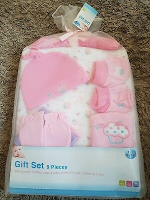 First Steps 9 Piece Baby Gift Set Pink
