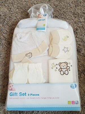 First Steps 9 Piece Baby Gift Set Beige
