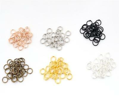 200pcs Open Jump Rings | 7 Sizes | 6 Plate Finishes