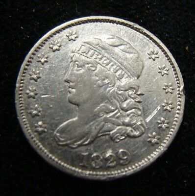 High Grade 1829 Capped Bust Half Dime