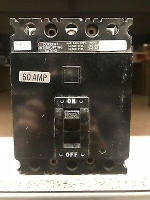 Square D FAL34060 Circuit Breaker ** Good Condition, Free Shipping **