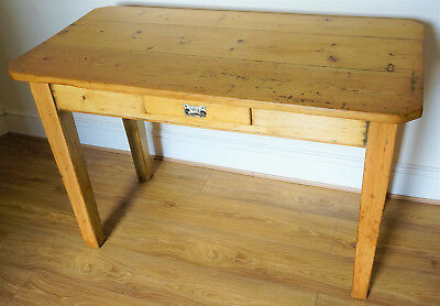 Antique / Vintage Pine Table,stripped pine with drawer,Lovely colour,