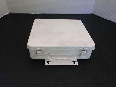 Vintage Metal First Aid Kit Box Wall Mount Medical Cabinet Interior Rubber Seal