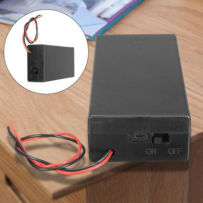 3.7V 2x 18650 Battery Holder Connector Storage Case Box ON/OFF Switch With T1F8