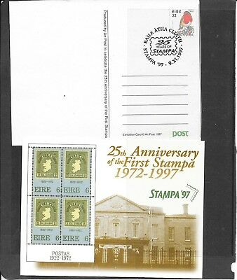 "Stamps: Ireland 1997 "" Stampa "" Post Card / Post Paid / Cancelled / (Unused)"