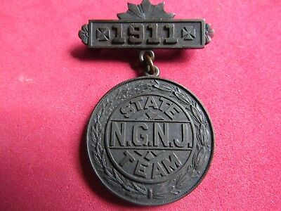 WW 1 New Jersey National Guard RIFLE TEAM Medal  1911