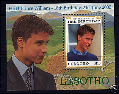 Lesotho 2000 Prince Williams 18th B/day  MS SG1723 MNH