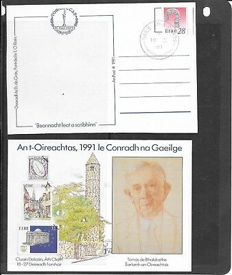"Stamps: Ireland 1991 "" An Post "" Post Card / Post Paid / Cancelled / (Unused)"