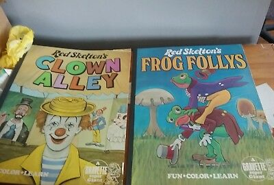 VINTAGE RED SKELTON'S CLOWN ALLEY AND FROG FOLLEYS STORY COLORING BOOK 22x17