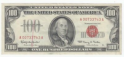 1966 $100 United States Note Fr#1550 Very Crisp Red Seal A4895