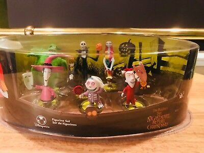 Disney Store's Nightmare Before Christmas Figurine Set in Oval Box
