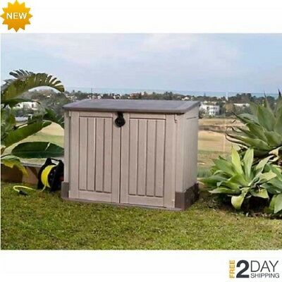 Large Outdoor Storage Box Garden Patio Shed Pool Yard Plastic Tools Safe Utility