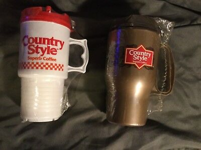 Country Style- 2 Sealed Travel Mugs Package Wear See Pics