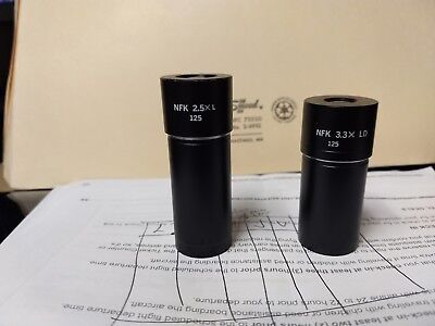 OLYMPUS NFK 3.3X LD and 2.5 l  125 PHOTO  MICROSCOPE EYEPIECE