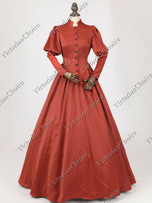 Victorian Civil War Maid Frock Dress Gown Reenactment Steampunk Costume 006