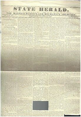 Orignal newspaper from home library of Abraham Lincoln's first Vice Pesident