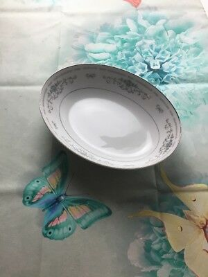 """FINE CHINA OF JAPAN """"DIANE"""" PATTERN OVAL VEGETABLE BOWL 10 1/2 Inch Bowl"""
