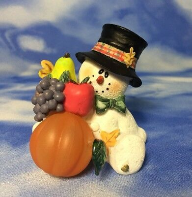 "Adorable 3"" Sarah's Attic Top Hat SnoWonders ""Garden Goodies"" Harvest #7982 RGUC"