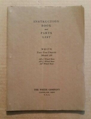White Motor Co.Cleveland,O.,Model 20 Two Ton Truck,Instruction Book,1926