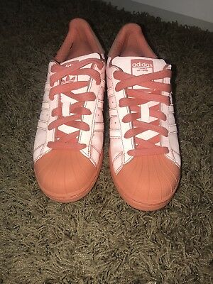 Details about ADIDAS SUPERSTAR REFLECTIVE PEACH SHOES S80330 SNEAKERS SHELLTOE SUNGLO SIZE 10
