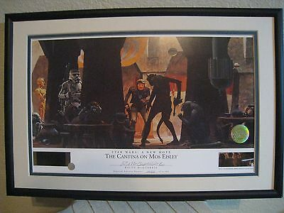 Star WARS -The Cantina at Mos Eisley  Ralph McQuarrie signed Lithograph LAST ONE
