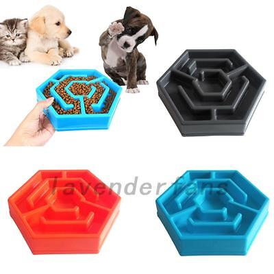 Pet Bowls Anti Gulp Go Slow Eating Non Slip Dog/Cat Feeder Feeding Bowl Hot