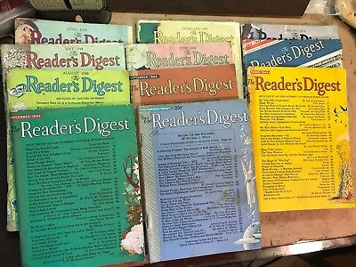 Readers Digest Magazines 1944 lot of 11 vintage issues World War II
