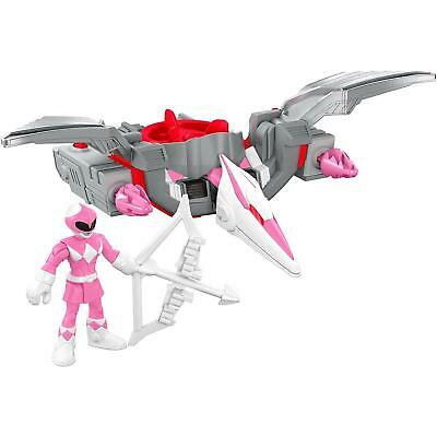NEW Imaginext Power Rangers Pink Ranger & Pterodactyl Zord Sabans Fisher-Price