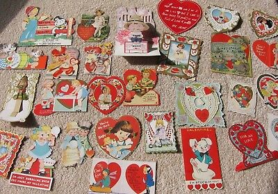 32 Vintage 1930's Valentines~Stand Up~Pop Out~Die-Cut~Fold-out~Nice Variety!  c