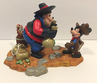 Disney PEG LEG PETE with CHIP & DALE and Cowboy MICKEY Figure – Mint in Box