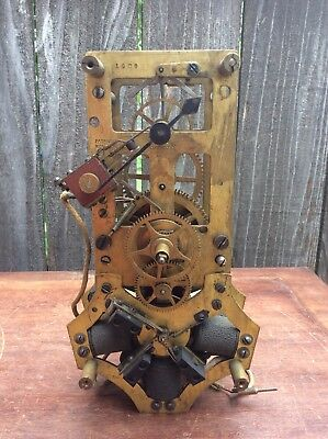 Early Antique Rotary Battery Electric Clock Movement,   Parts Only