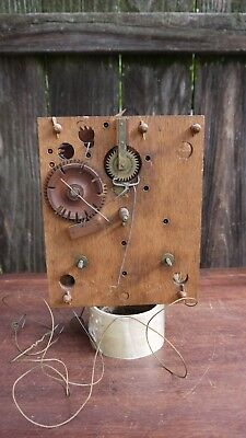 american wooden works weight driven shelf clock movement parts repairs