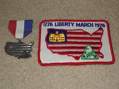 Boy Scout BSA Liberty March Independence Hall Pennsylvania Trail Medal and Patch